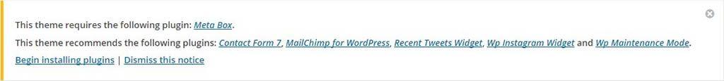 installa plugins themes wordpress breena